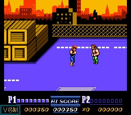In-game screen of the game Double Dragon II - The Revenge on Nintendo NES