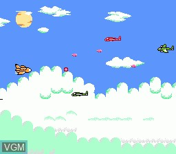 In-game screen of the game Double Strike on Nintendo NES