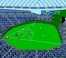 In-game screen of the game Emoyan no 10 Bai Pro Yakyuu on Nintendo NES