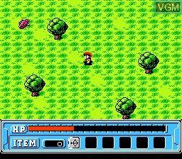 In-game screen of the game Faria - A World of Mystery & Danger! on Nintendo NES