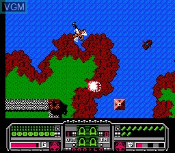 In-game screen of the game Fire Hawk on Nintendo NES