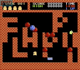 In-game screen of the game Flappy on Nintendo NES