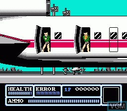 In-game screen of the game Freedom Force on Nintendo NES