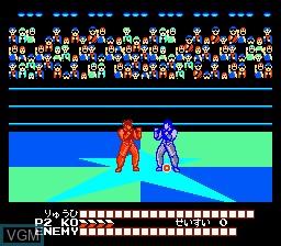 In-game screen of the game Hiryuu no Ken III - 5 Nin no Ryuu Senshi on Nintendo NES