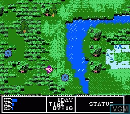 In-game screen of the game Hydlide 3 - Yami Kara no Houmonsha on Nintendo NES