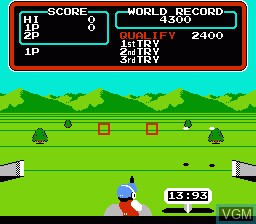 In-game screen of the game Hyper Sports on Nintendo NES