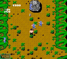 In-game screen of the game Ikari Warriors on Nintendo NES