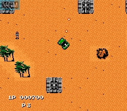 In-game screen of the game Jackal on Nintendo NES