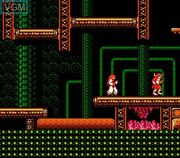In-game screen of the game Kabuki - Quantum Fighter on Nintendo NES