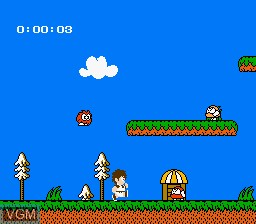In-game screen of the game Kid Kool and the Quest for the 7 Wonder Herbs on Nintendo NES