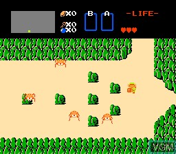 In-game screen of the game Legend of Zelda, The on Nintendo NES