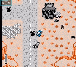 In-game screen of the game Mad Max on Nintendo NES