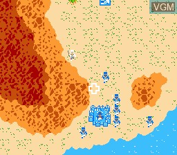 In-game screen of the game Napoleon Senki on Nintendo NES