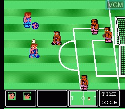 In-game screen of the game Nintendo World Cup on Nintendo NES