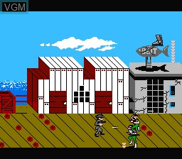 In-game screen of the game Raid 2020 on Nintendo NES