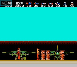 In-game screen of the game Rambo - First Blood Part II on Nintendo NES