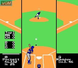 In-game screen of the game R.B.I. Baseball 3 on Nintendo NES