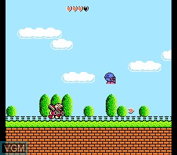 In-game screen of the game Robocco Wars on Nintendo NES