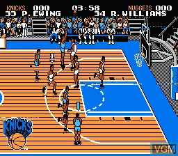 In-game screen of the game NBA Jam 2 on Nintendo NES