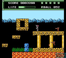 In-game screen of the game Xexyz on Nintendo NES