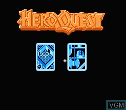 In-game screen of the game Hero Quest on Nintendo NES