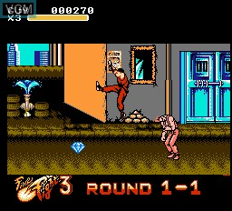In-game screen of the game Final Fight 3 on Nintendo NES
