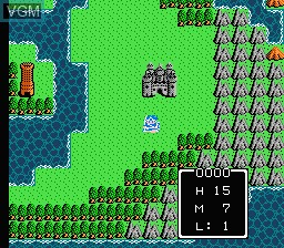 In-game screen of the game Yong Zhe Dou E Long - Dragon Quest VI on Nintendo NES