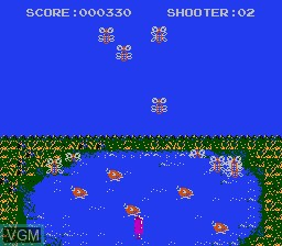 In-game screen of the game Huge Insect on Nintendo NES