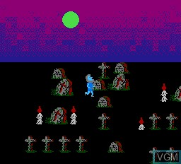 In-game screen of the game Escape From Atlantis, The on Nintendo NES