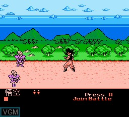 In-game screen of the game Dragon Ball Z 5 on Nintendo NES
