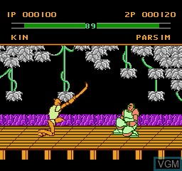 In-game screen of the game Xing Ji Wu Shi - Super Fighter on Nintendo NES