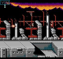 In-game screen of the game Darkwing Duck 2 on Nintendo NES