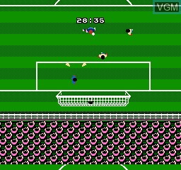 In-game screen of the game FIFA 97 International Soccer on Nintendo NES