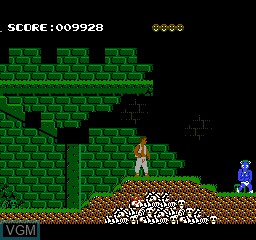 In-game screen of the game Hell Fighter on Nintendo NES