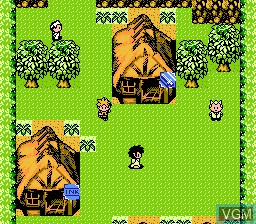 In-game screen of the game Huang Jin Tai Yang on Nintendo NES