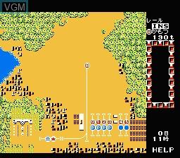 In-game screen of the game A Ressha de Ikou on Nintendo NES