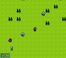 In-game screen of the game Advanced Dungeons & Dragons - Dragons of Flame on Nintendo NES