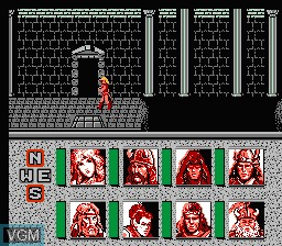 In-game screen of the game Advanced Dungeons & Dragons - Heroes of the Lance on Nintendo NES
