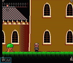 In-game screen of the game Addams Family, The - Pugsley's Scavenger Hunt on Nintendo NES