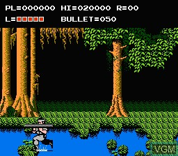 In-game screen of the game Adventures of Bayou Billy, The on Nintendo NES