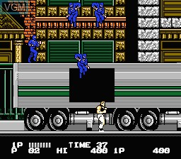 In-game screen of the game Bad Dudes on Nintendo NES