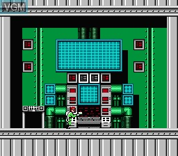 In-game screen of the game Bionic Commando on Nintendo NES
