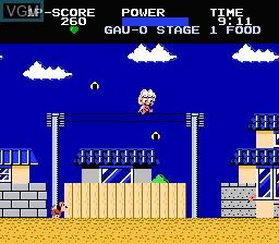 In-game screen of the game Chubby Cherub on Nintendo NES