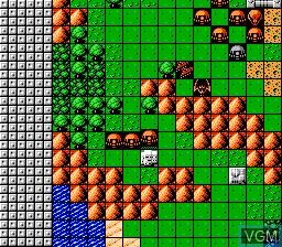 In-game screen of the game Dai-2-Ji - Super Robot Taisen on Nintendo NES