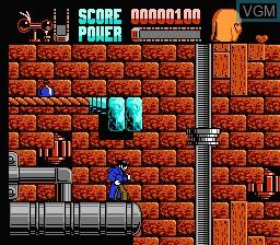 In-game screen of the game Darkman on Nintendo NES