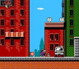 In-game screen of the game Darkwing Duck on Nintendo NES