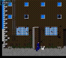 In-game screen of the game Dirty Harry - The War Against Drugs on Nintendo NES