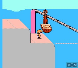 In-game screen of the game Doki! Doki! Yuuenchi - Crazyland Daisakusen on Nintendo NES