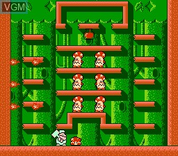 In-game screen of the game Don Doko Don on Nintendo NES