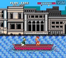 In-game screen of the game Donald Duck on Nintendo NES